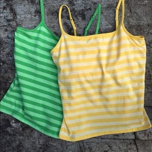 Two Express Camis in Lemon and Lime!
